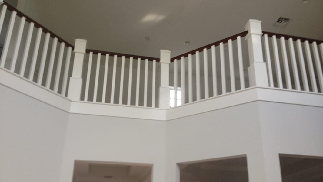 Stair case railing, finish carpentry, remodeling company, home renovation, Fort Myers, Naples, Florida